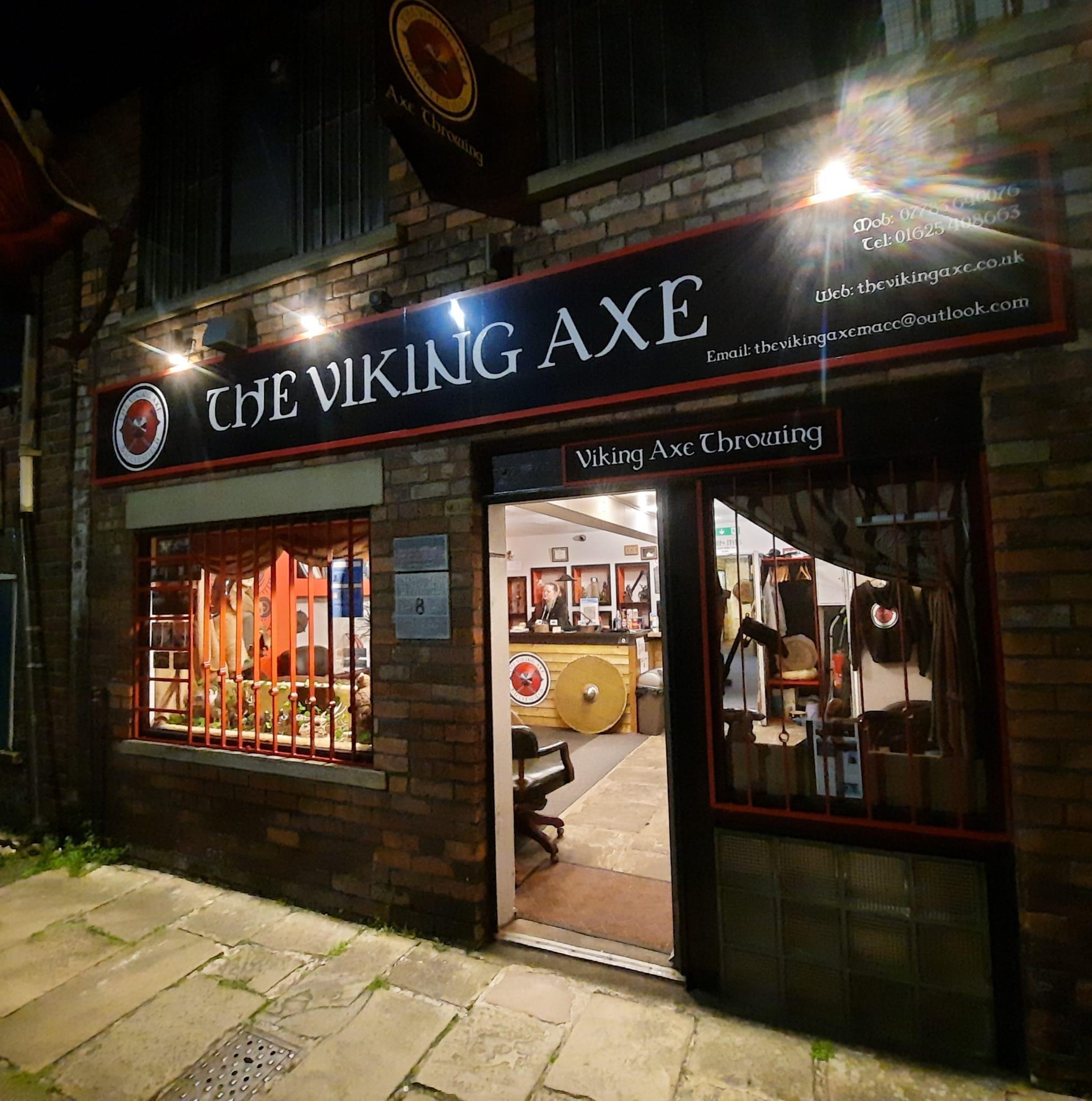 An image of The Viking Axe at night